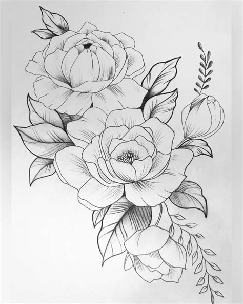 Pin by Mariavi on Sketch | Flower tattoos, Tattoo drawings, Flower tattoo drawings