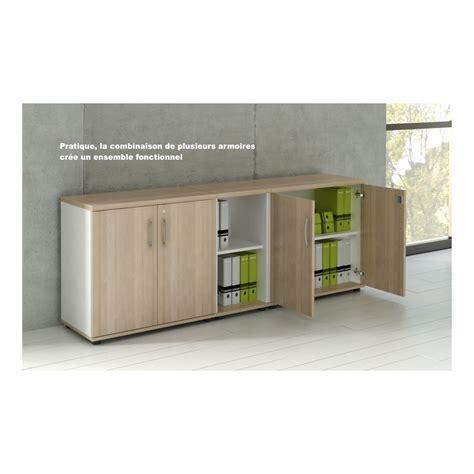 armoire bureau bois armoire basse de bureau avec portes décor bois plusieurs