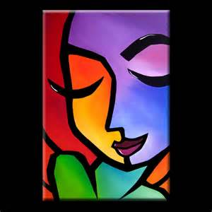 Modern Abstract Art Paintings Faces