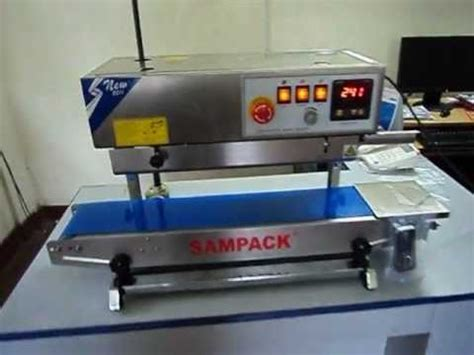 continuous band sealer sealing machine sampack youtube