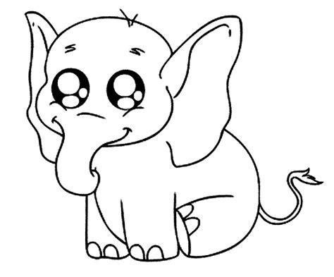 mewarnai gambar gajah pilihan untuk paud dan tk mewarnai