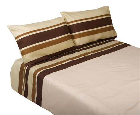 Striped Quilt Cover & Two Pillowcases Set Easy Care Cotton