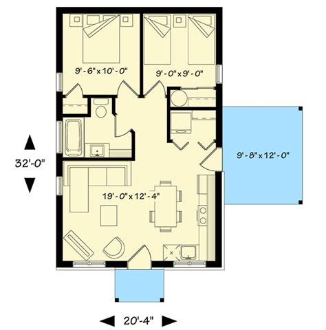bedroom tiny cottage dr architectural designs house plans