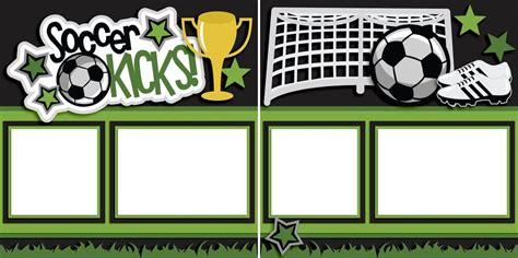 soccer kicks digital scrapbook pages instant