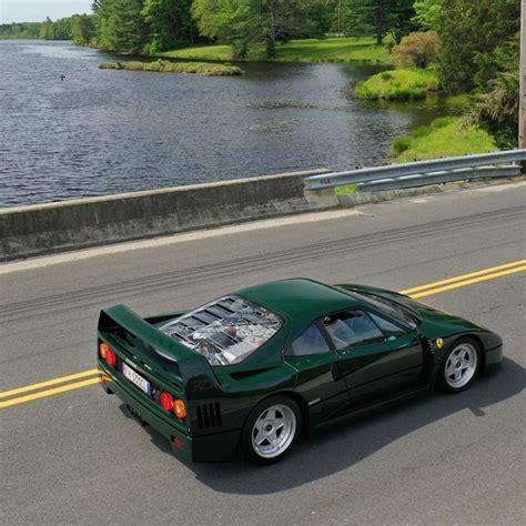 In modern sense, it had no elaborate dash. Green Ferrari F40, looking straight out of a video game : Ferrari