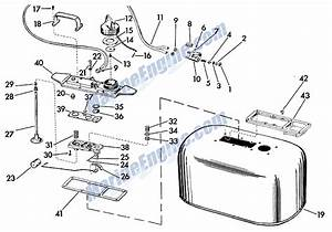 Fuel Tank Parts For 1957 35hp 25532 Outboard Motor