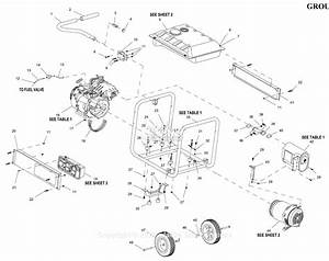 Generac 0059430  Gp7500e  Parts Diagram For Full Assembly
