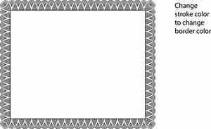 Certificate Border Vector - Free Vector