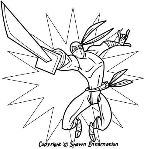 ninja coloring pages    print