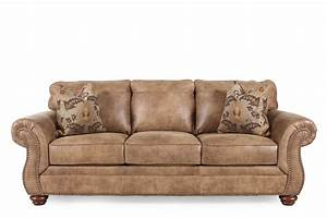 Ashley larkinhurst earth sofa mathis brothers furniture for Sectional sofas mathis brothers