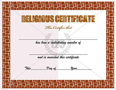 17 Church Certificate Templates Free Printable Sle Designs Religious Certificate Templates For Your Church Activities