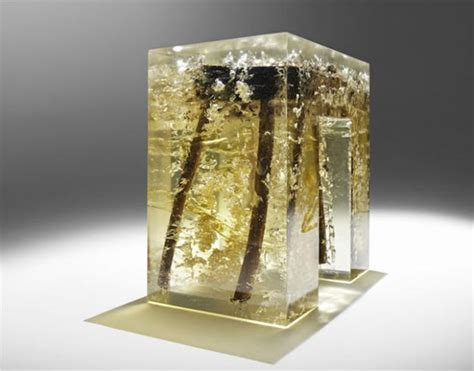 Encased in Epoxy Resin Wood Furniture Collection, Unique