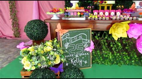 Decoração festa de aniversário Jardim Encantado YouTube