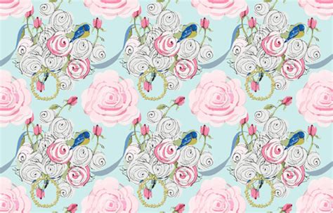 shabby chic wallpaper and fabric shabby chic roses bluebirds and ribbons on paris blue fabric karenharveycox spoonflower