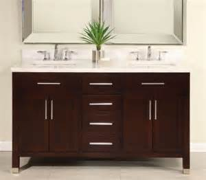 60 inch sink modern cherry bathroom vanity with choice of counter top uveimo60