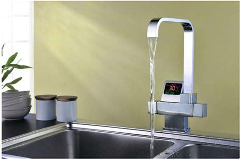 kitchen sink displays thermostatic digital disply kitchen sink faucet 2673