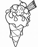 Coloring Ice Cream Cone Pages Children Summer Topcoloringpages Printable Clipartmag Line Drawing Cherry sketch template