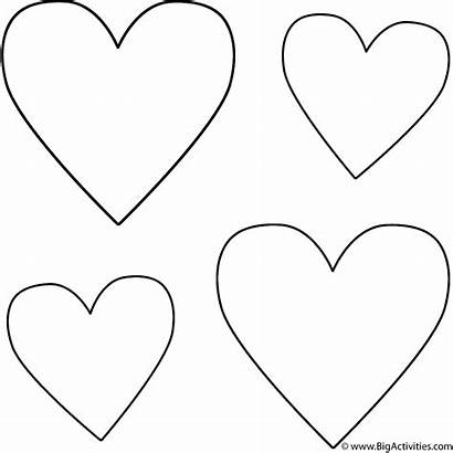 Hearts Coloring Pages Four Valentine Printable Valentines