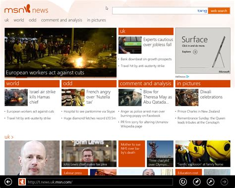 Msn News On Windows 8 Pro