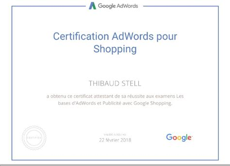 Adwords Certification by Adwords Certification For Shopping By 217 2018
