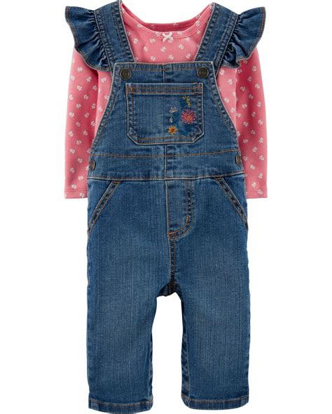 The customer service representatives for old navy are very rude. 2-Piece Floral Tee & Denim Overalls Set | carters.com