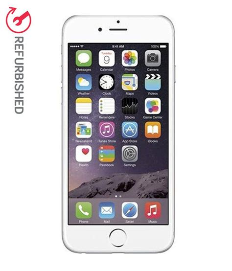 refurbished iphone 4 refurbished apple iphone 6 silver 64 gb available at