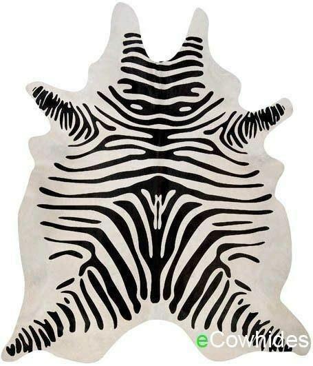 Zebra Cowhide Rugs by Zebra Cowhide Rug Cow Hide Area Rugs Skin Leather Ebay