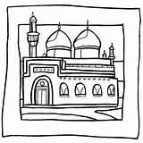 Mosque Coloring Islamic Masjid Ramadan Colorear Edificios Sheets Mewarnai Colouring Pintar Monumentos Dibujos Islam Sheet Studies Belajar Nature Crafts Mosques sketch template