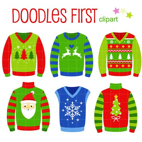 christmas ugly sweater voting clipart clipground