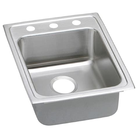 kitchen sink elkay elkay lustertone drop in stainless steel 17 in 3 2693