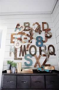 decorating with wooden letters With bedroom letter decor