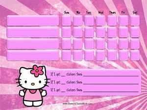 Chore Chart To Do Done Hello Kitty Behavior Chart