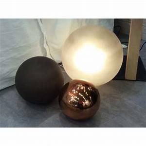 Lampe Boule à Poser : lampe d 39 ambiance boule en verre souffl par angel des ~ Dailycaller-alerts.com Idées de Décoration