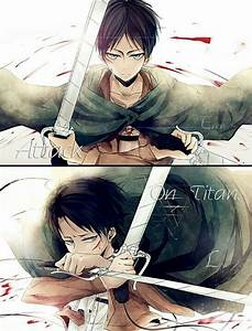 Attack on Titan Eren x Levi | Attack On Titan | Pinterest