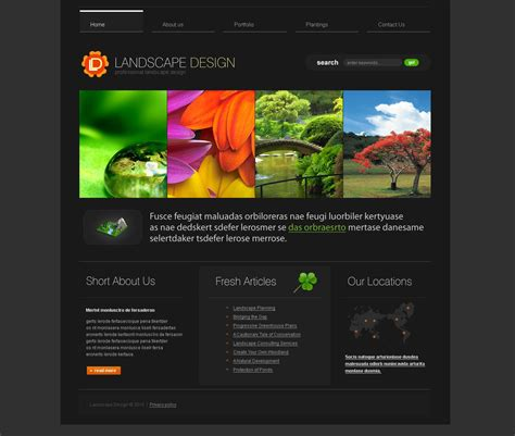 garden design websites landscape design website template 27729