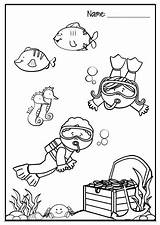 Snorkeling Coloring Pages Drawing Bank Getdrawings Getcolorings Teacherspayteachers Sold sketch template