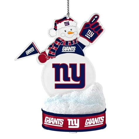 gifts for new york giants fans new york giants ornament led snowman merchandise