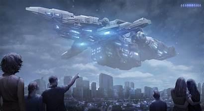 Alien Ship Massive Sci Fi Space Fantasy