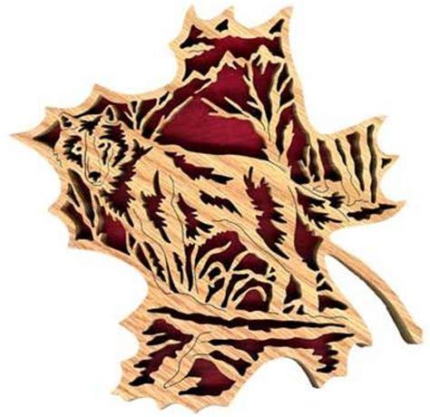 fl forest leaf wolf  pattern scroll  projects