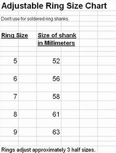 Adjustable Ring Size Chart