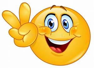 V sign emoticon stock vector. Illustration of head, funny ...