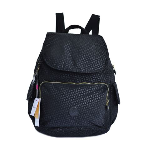 tas ransel wanita authentic kipling backpack city hitam