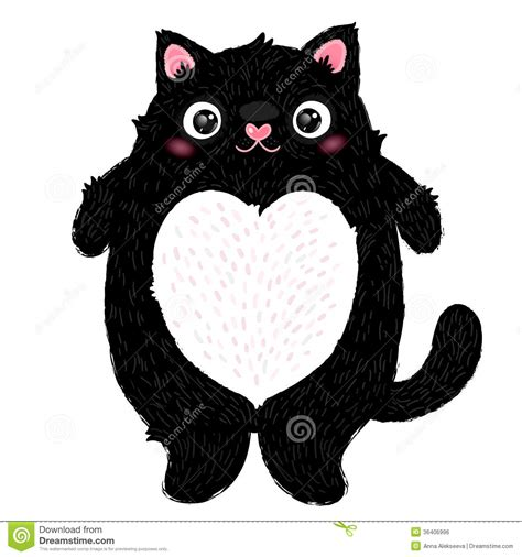 cute fat cat character stock vector illustration
