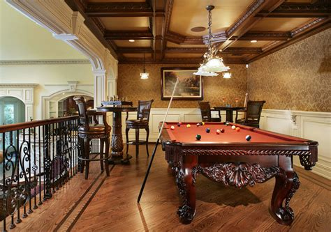 pool table in a small room game room with pool table traditional family room new york by creative design
