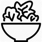 Salad Icon Vector Bowl Healthy Icons Health