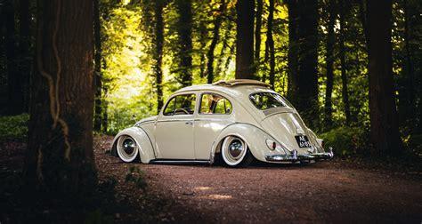 Vintage Volkswagen Wallpapers by Volkswagen Beetle Sunroof Wheels Rear Trees Road Forest