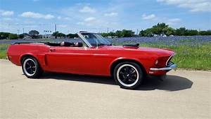 1969 Ford Mustang Convertible Original Candy Apple Red
