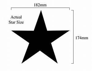STAR A4 18CM stencil 055 | Dovetails Vintage  Star