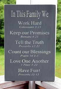 Christian Family Rules Sign - I've always liked the Family