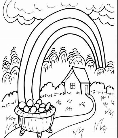 Rainbow Coloring Pages Printable Writing Paper